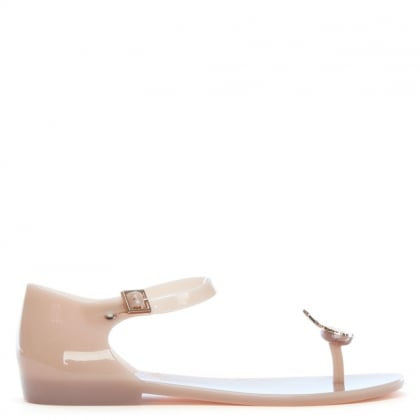 x Melissa Honey Nude Orb Sandals