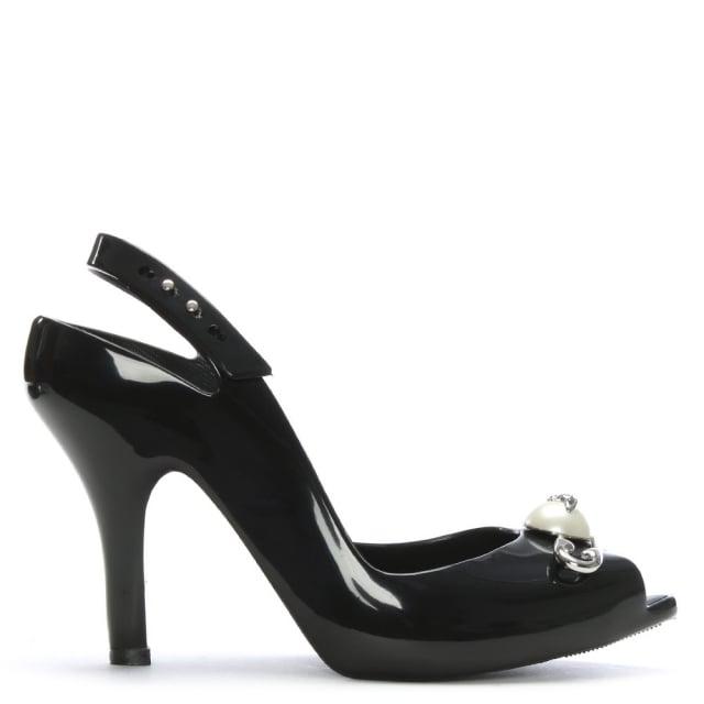 Vivienne Westwood x Melissa Lady Dragon Black Pearl Safety Pin Sandals