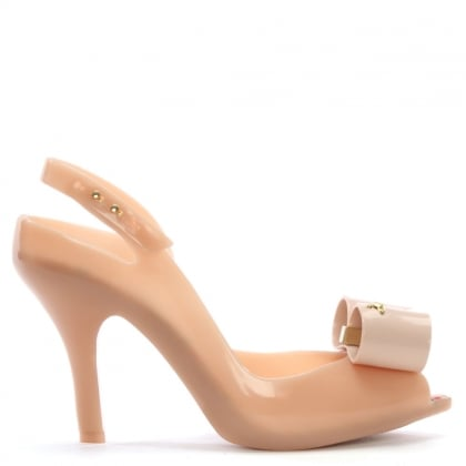 x Melissa Lady Dragon Nude Bow Heeled Sandals