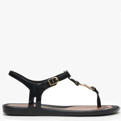 9303431acc8c Vivienne Westwood x Melissa Solar Orb Black Toe Post Sandals
