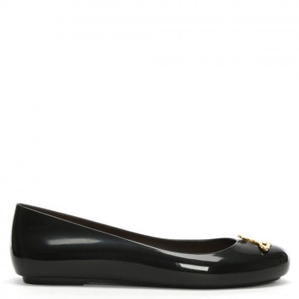 x Melissa Space Love 20 Black Orb Ballet Pumps