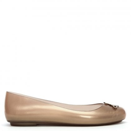 x Melissa Space Love 20 Rose Gold Orb Ballet Pumps