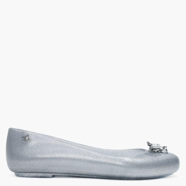 5187d23185b Vivienne Westwood x Melissa Space Love Bee Silver Glitter Ballet Pumps