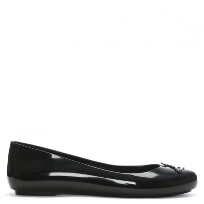 x Melissa Space Love Black Orb Ballet Pumps