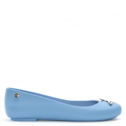 x Melissa Space Love Blue Orb Ballet Flats