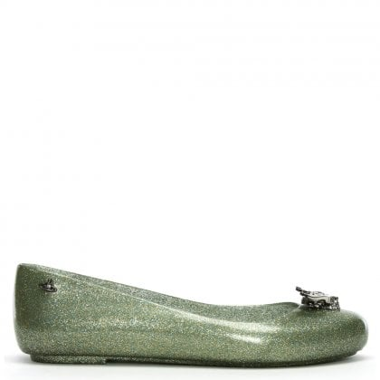 x Melissa Space Love Grass Bee Glitter Ballet Pumps