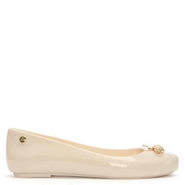 9adeca742e2 Vivienne Westwood x Melissa Space Love Ivory Pearl Orb Ballet Pumps