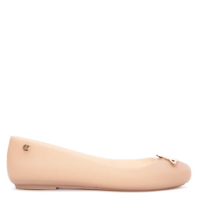Mel Dreamed by Melissa Kids Vivienne Westwood Space Love Orb Flat Nude-Nude-11 Size 11