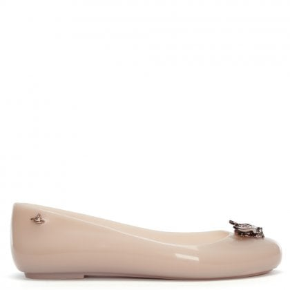 x Melissa Space Love Rose Bee Ballet Pumps