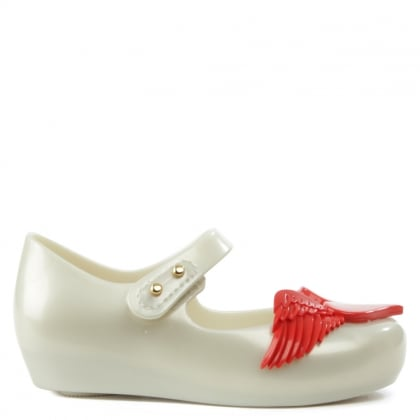 x Mini Melissa Ultragirl Cherub White Mary Janes