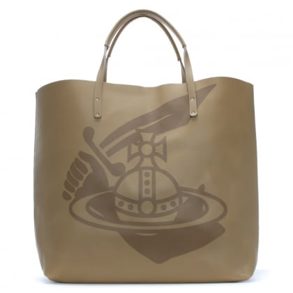 x R.I.S.E Kenya Beige Leather Shopper Bag
