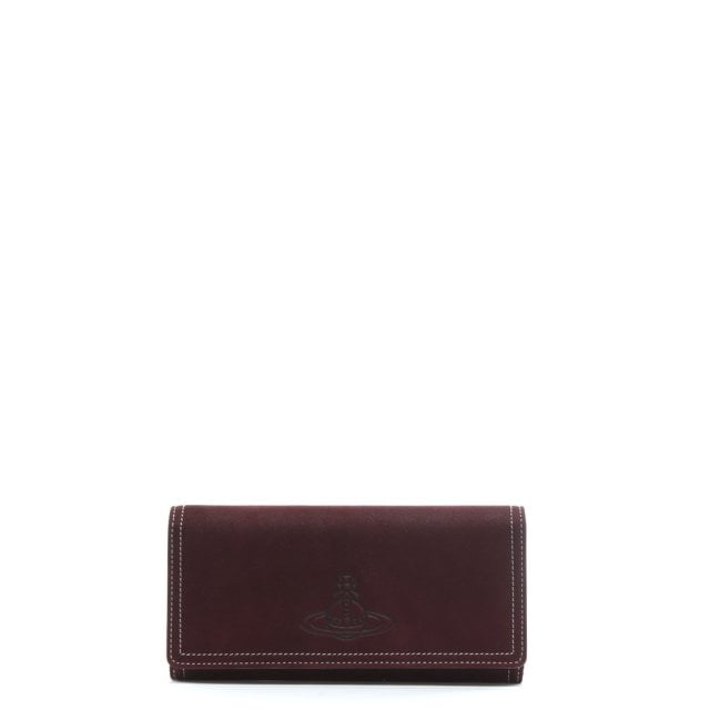 b60c1be0e83 Vivienne Westwood Yasmine Burgundy Suede Wallet