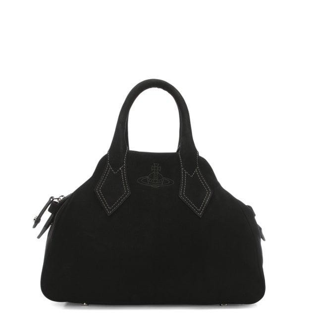 7d07e35d2d Vivienne Westwood Yasmine Medium Black Leather Dome Tote Bag