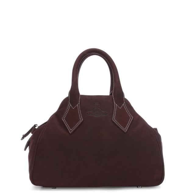 9fb31c28ae Vivienne Westwood Yasmine Medium Burgundy Leather Dome Tote Bag