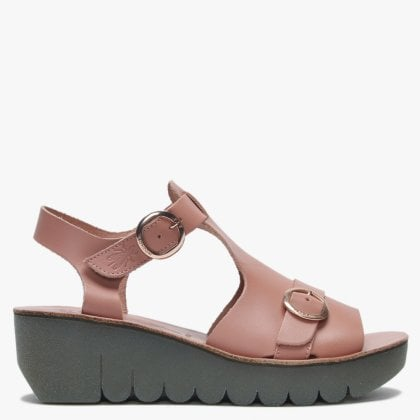 6a24540ebd5 Yavi Rose Leather Chunky T Bar Sandals. New In. Fly London ...