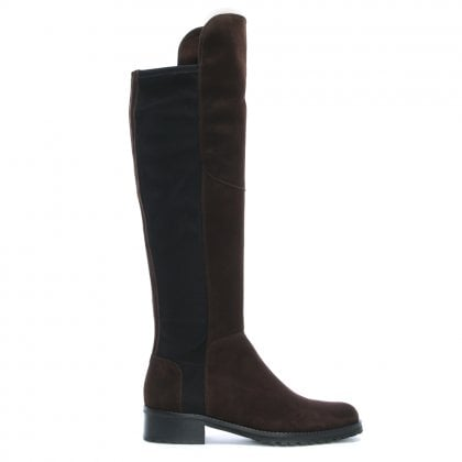 d076b1f5c113d Zafferano Brown Suede Elastic Back Riding Boots. Free Standard UK Delivery