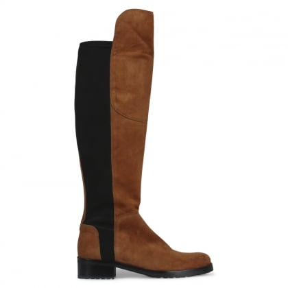Zafferano Tan Suede Elastic Back Riding Boots