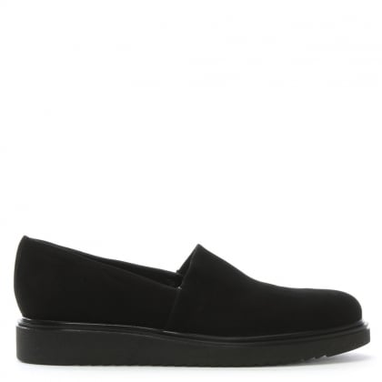 Zaga Black Suede Loafers