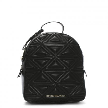 Zaino Quilted Black Backpack