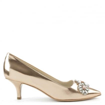 Zocal 2P Rose Gold Kitten Heel Court Shoe