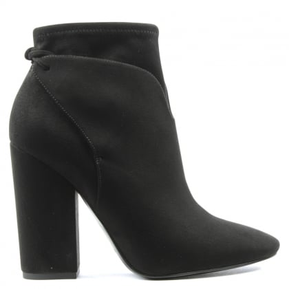 Zola Black Square Toe Ankle Boot